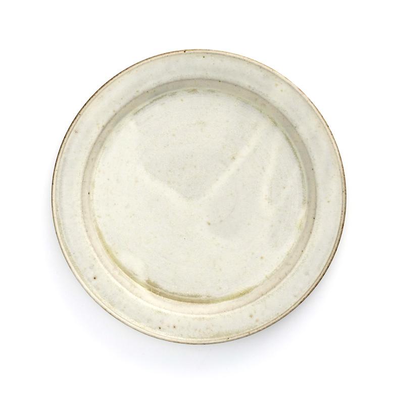 秋谷茂郎 リム皿 7寸 りんご釉