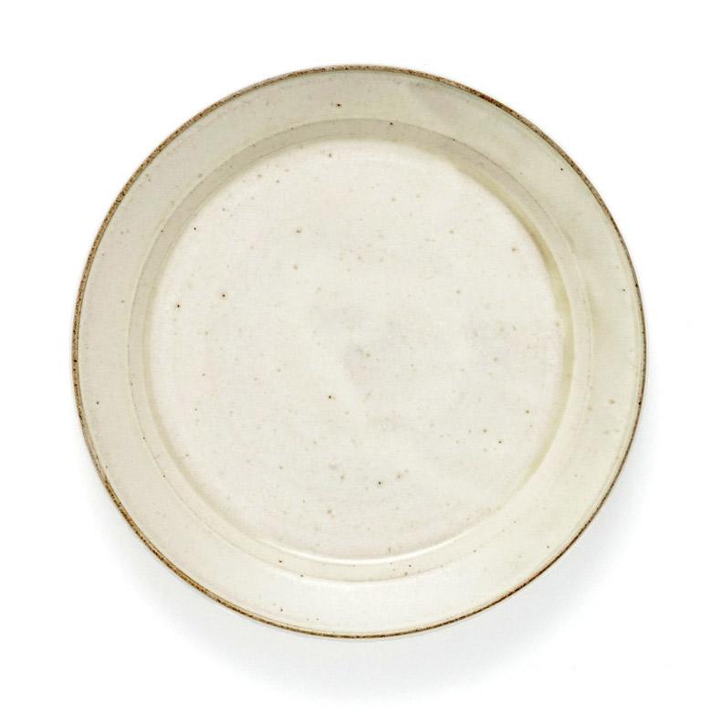 秋谷茂郎 リム皿 8寸 りんご釉